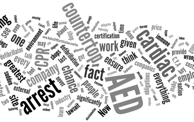 AED's in the Workplace Wordle