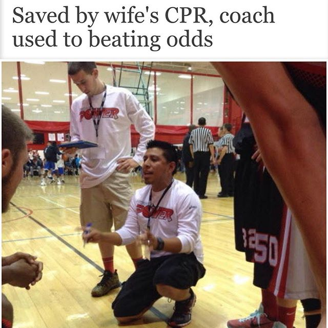 Tucson coach saved by CPR