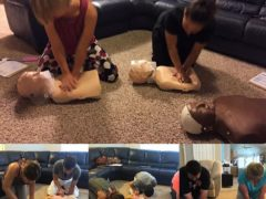 Cpr trainings this week! Great clients make learning fun!!