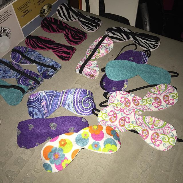 "Making little ""spa masks"" for some awesome 2nd grade girls at FBC Frisco GA's :-)."