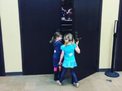 These cuties caught a sneak peek at the worship team rehearsing for Easter Services.