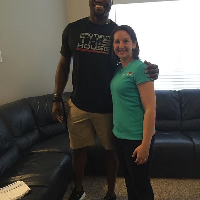 Taught CPR to my first celebrity! Thanks for coming Edgar Jones, NFL player!