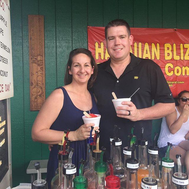 True Hawaiian shaved ice!! The owner is super nice! #kauai #hawaiianblizzard