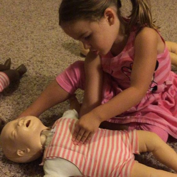 Never too young to learn CPR