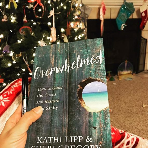 Kids are asleep {or at least quiet}, hubby is working late, Christmas tree is still up & I am going to enjoy reading this gem! I need to finish by 12/31 and I'm *still* in chapter 1….old habits die hard :(