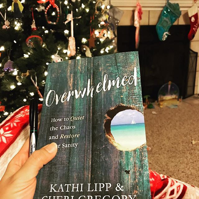 Kids are asleep {or at least quiet}, hubby is working late, Christmas tree is still up & I am going to enjoy reading this gem! I need to finish by 12/31 and I'm *still* in chapter 1....old habits die hard :(