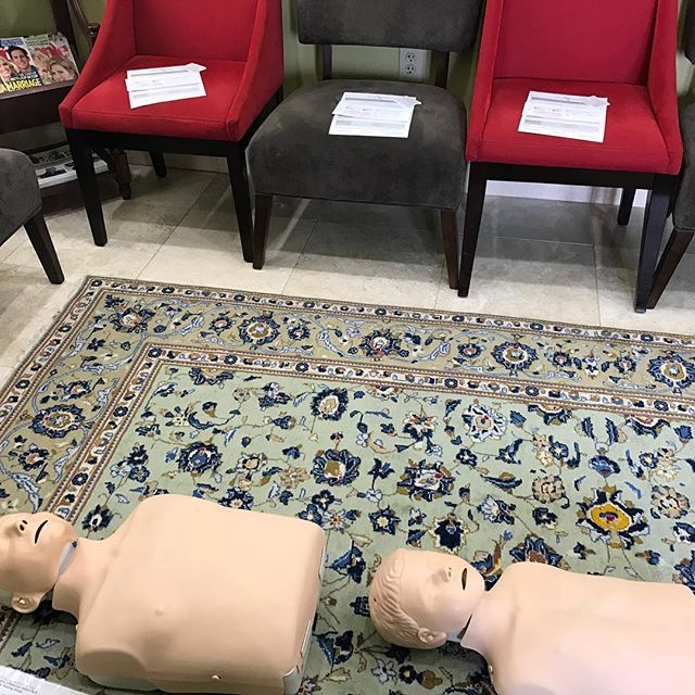 Teaching CPR on this snowy day!