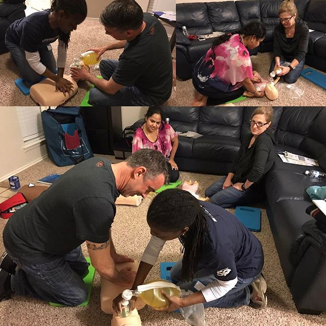 Super great group CPR class tonight!