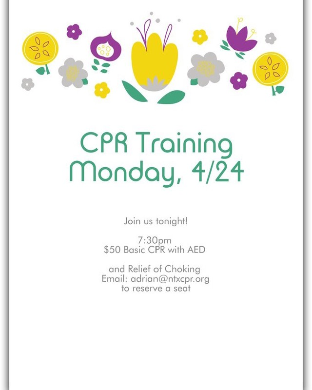Cpr training tonight!