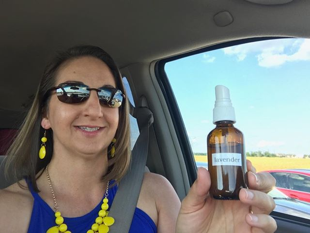 Staying calm in Dallas traffic with young living lavender