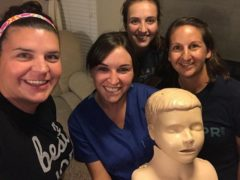CPR training with these fun ladies!