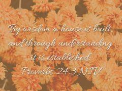 Seek Wisdom and understanding