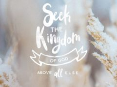 """But seek first the kingdom of God and his righteousness, and all these things will be added to you.""‭‭Matthew‬ ‭6:33‬ ‭ESV‬‬http://bible.com/59/mat.6.33.esv"