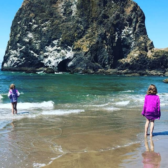 Next only to hearing my girls laugh, like the good belly laugh and giggles, the sound of the ocean is my happy place. ️ it was so nice to walk and explore the beach with friends yesterday  #foreverfriends #wavescrashing #oceanlover