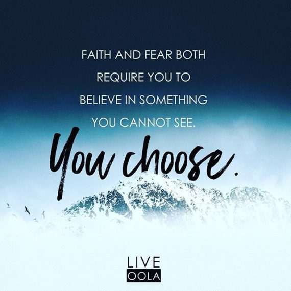 Replace fear and doubt with TRUTH and walk in FAITH! #fearisaliar