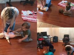 CPR training today was so sweet! Lil Miss L was rockin her new skills. #babyshark #aha #cpr #ntxcpr #cprsaves